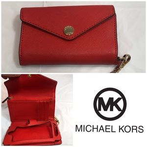 Michael Kors Orange Leather Wallet